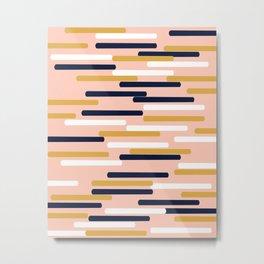 Britt - Modern pattern design perfect cell phone gift for trendy modern college dorm room decor Metal Print