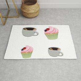 cupcakes and coffee Rug