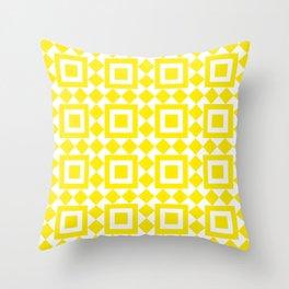 Moroccan Tiles Yellow Throw Pillow