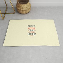 Lab No. 4 - Destiny is not a matter of chance William jennings Bryan Inspirational Quotes Poster Rug