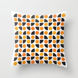Geometric Pattern 175 (orange spots) Throw Pillow