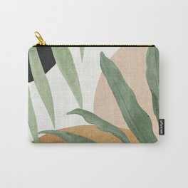 Abstract Art Tropical Leaves 4 Carry-All Pouch