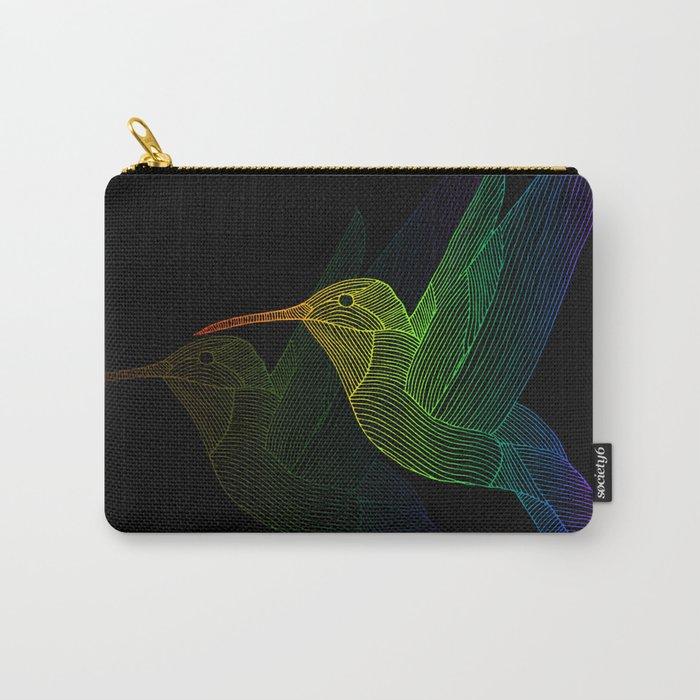 Rainbow Hummingbird Carry-All Pouch