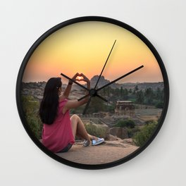 Incredible India: Hampi Wall Clock