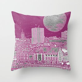 PURPLE AND THE CITY Throw Pillow