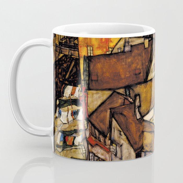 """Egon Schiele """"Krumau - Crescent of Houses (The small City V)"""" Coffee Mug"""