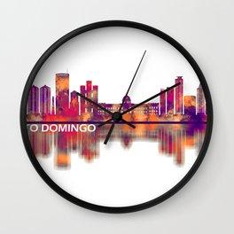 Santo Domingo Dominican Republic Skyline Wall Clock