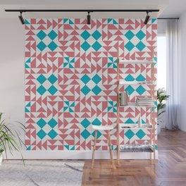 Gambian geometric mosaic pattern design Wall Mural