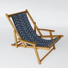 Mud Cloth Big Arrows in Navy Sling Chair