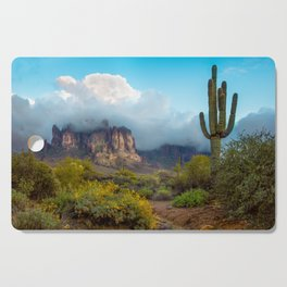 Clearing Storm Over the Superstition Mountians Cutting Board