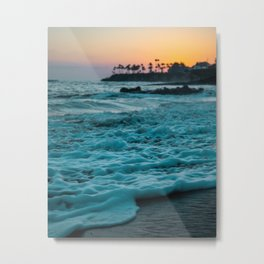 The Sunset Shore (Color) Metal Print
