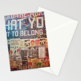 Build the world that you want to belong I Stationery Cards