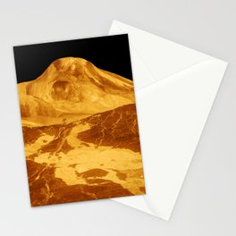 Venus - 3-D Perspective View of Maat Mons | Spacer Collection Stationery Cards