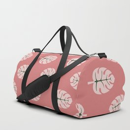 Tropical leaves Monstera deliciosa flaming pink #monstera #tropical #leaves #floral #homedecor Duffle Bag