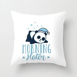 Morning Hater - Cute Sleeping Panda Taking Naps Throw Pillow