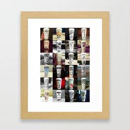 24 Coffee Cups Framed Art Print