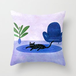 Lazy Weekend Throw Pillow