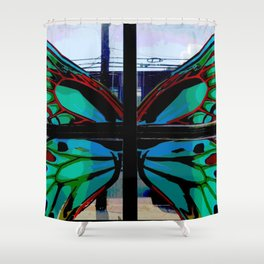 Butterfly in the Window Shower Curtain