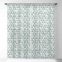 Green Tribal Triangles Sheer Curtain