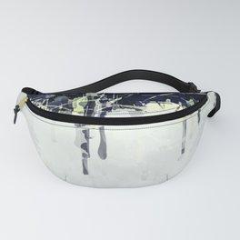 Modern Indigo Eclipse Abstract Design Fanny Pack