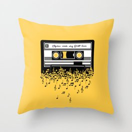 Retro Tape Throw Pillow