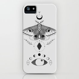 Metaphys Moth - Gray iPhone Case