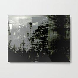 1st arrondissement-gray Metal Print