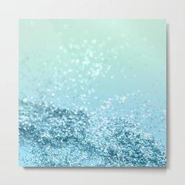 Seafoam Aqua Ocean MERMAID Girls Glitter #3 #shiny #decor #art #society6 Metal Print