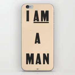 I am a Man Vintage Civil Rights Protest Poster, 1968 iPhone Skin