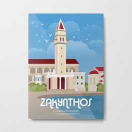 Zakynthos, The bell tower of St. Dionysios (GR) Metal Print