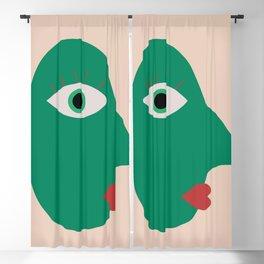 Cubism Face Blackout Curtain