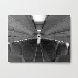 Interieur of airplan Metal Print