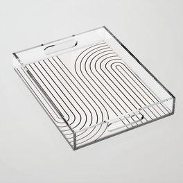 Minimal Line Curvature I Acrylic Tray