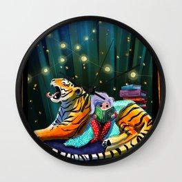 Tiger Reading Club Wall Clock