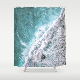 Coastal Ocean Wave Turquoise Water Shower Curtain