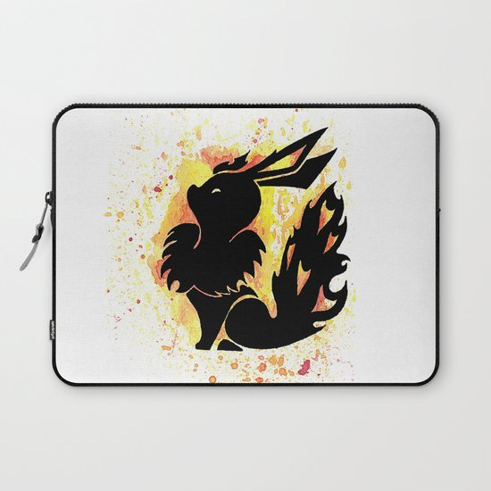 Flareon Splash Silhouette by rualithsbestiary
