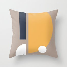 Navy Yellow White Throw Pillow