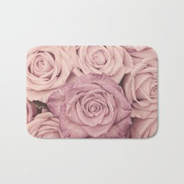 Some People Grumble - Pink Rose Pattern - Roses Garden Bath Mat
