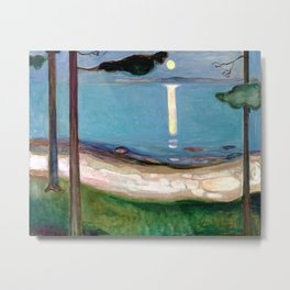 Edvard Munch - Moonlight Metal Print