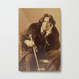 Oscar Wilde portrait by Napoleon Sarony, 1882 Metal Print