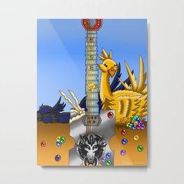 Fusion Keyblade Guitar #58 - Fenrir & Metal Chocobo Metal Print