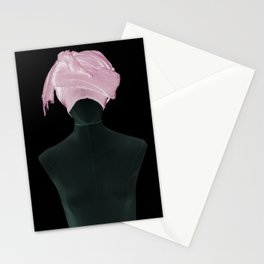 Clean and Pink | Abstract Pink Shower Stationery Cards