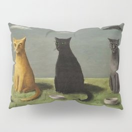 Three Cats with Clouds That Follow Them Everywhere by Gertrude Abercrombie Pillow Sham