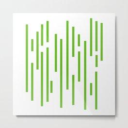 Minimalist Lines – Green Metal Print