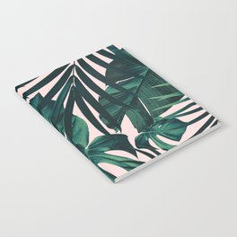 Tropical Jungle Leaves Pattern #5 #tropical #decor #art #society6 Notebook