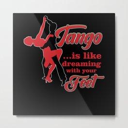 Tango, Music, Dancer, Metal Print