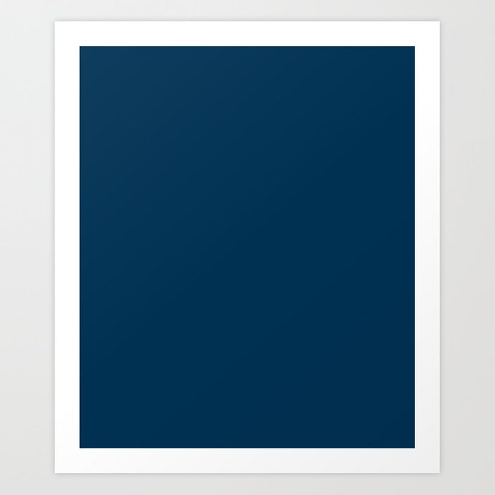 Prussian Blue - solid color Kunstdrucke