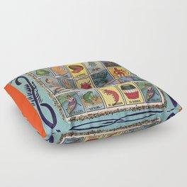 Mexican Bingo Loteria Floor Pillow