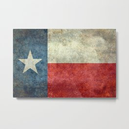Flag of Texas, Flag of the Lone Star State Metal Print