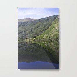 Mirror Water-calm waters on Lock Eck in Scotland Metal Print